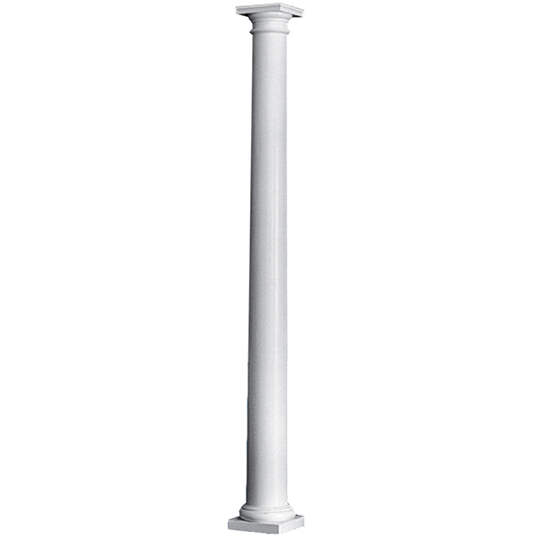 10 x 10 39 plain round tapered permacast column with for Permacast columns