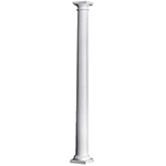"8"" x 8' Plain Round Tapered PermaCast® Column with Tuscan Cap & Base"