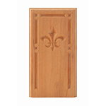 "Cherry 4-1/4"" Fleur-De-Lis Design Base Block"