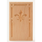 "Cherry 5-1/2"" Fleur-De-Lis Design Base Block"