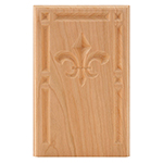 "Cherry 5-3/4"" Fleur-De-Lis Design Base Block"
