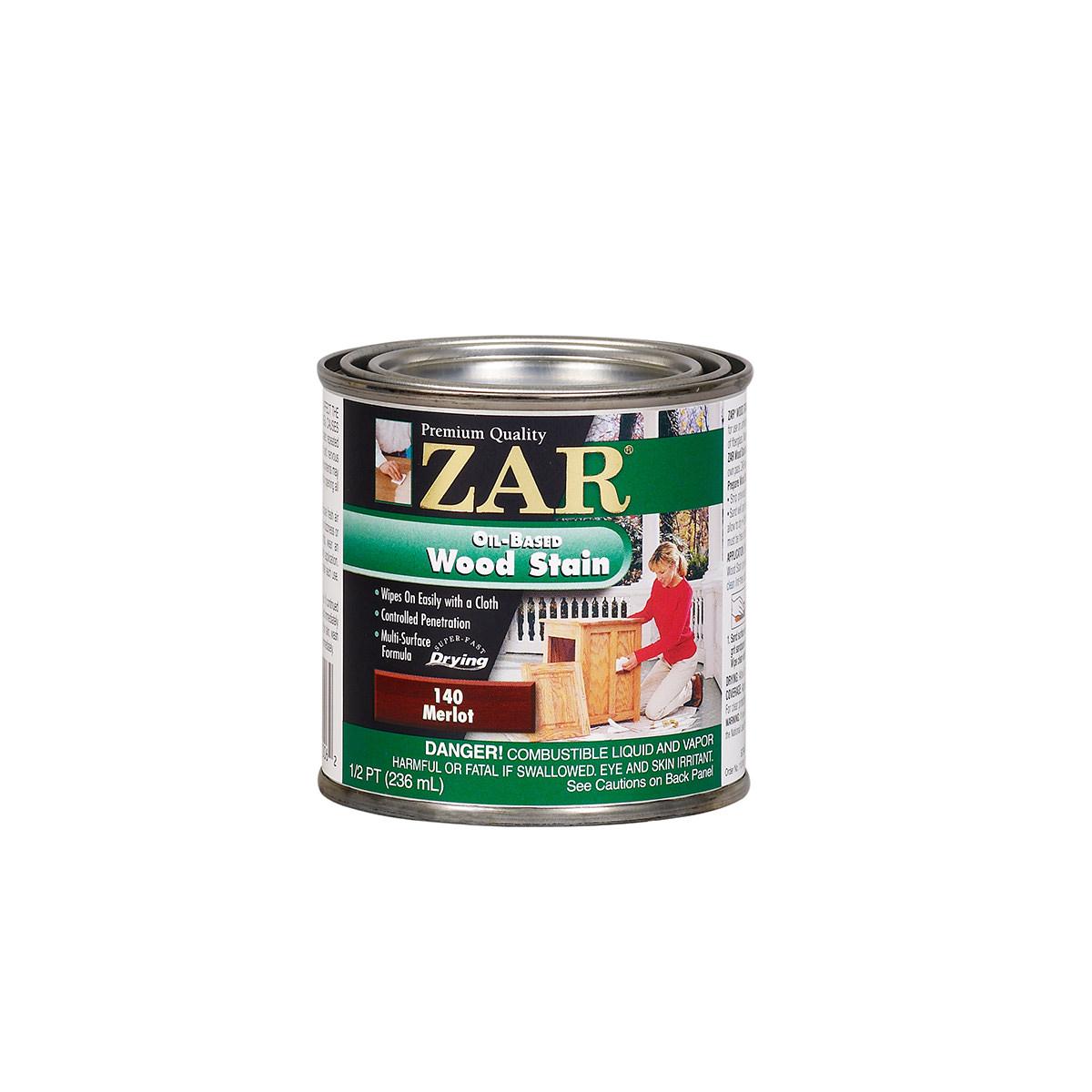 Zar Merlot 140 Oil Based Wood Stain 1 2 Pint