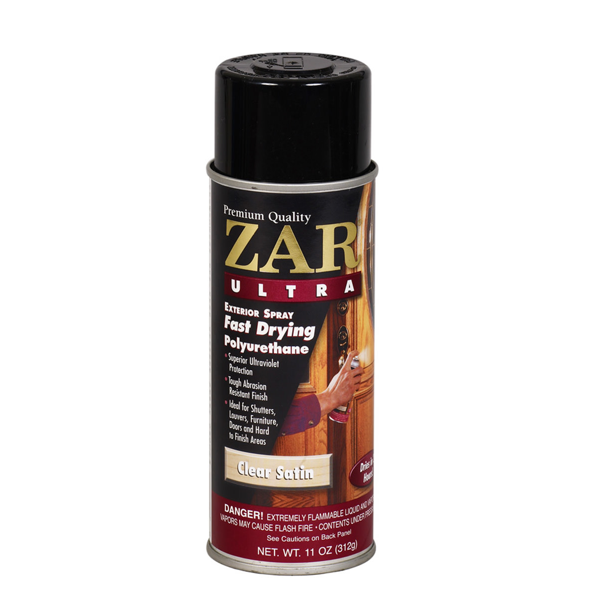 Zar exterior 267 polyurethane satin finish spray for Exterior polyurethane wood finish