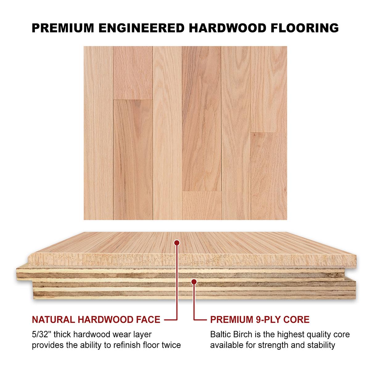 Red Oak Engineered Flooring 5 8 X 3