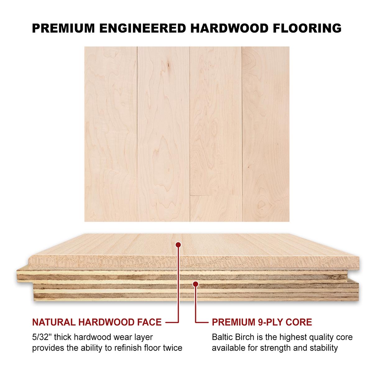 Hard Maple Engineered Flooring 5 8 X