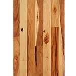 "Prefinished <b>Clear Semi-Gloss</b> 3/4"" x 3"" Hickory Character Grade Flooring"