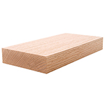 "1-1/2"" x 5-1/2"" Red Oak Lumber 2x6"