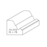 "1-1/2"" x 1-5/8"" Cherry Custom Accessory Moulding - SPL9076"