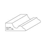 "0.888"" x 2-5/16"" Cherry Custom Chair Rail - SPL9091"