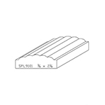 "3/4"" x 2-1/4"" Custom Cherry Miscellaneous Moulding - SPL9101"