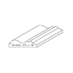 "0.475"" x 1-7/8"" Cherry Custom Chair Rail - SPL9122"