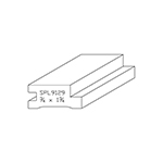 "3/4"" x 1-3/4"" Custom Cherry Miscellaneous Moulding - SPL9129"