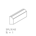"1/2"" x 1"" Cherry Custom Scribe Moulding - SPL9142"