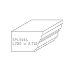 "1.720"" x 2.710"" Cherry Custom Accessory Moulding - SPL9146"