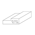 "3/4"" x 2-1/4"" Custom Cherry Miscellaneous Moulding - SPL9243"