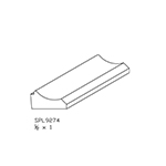 "1/2"" x 1"" Hard Maple Custom Bed Moulding - SPL9274"
