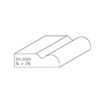 "3/4"" x 2-1/2"" Custom Cherry Miscellaneous Moulding - SPL9320"
