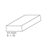 "1/2"" x 1-1/2"" Custom Cherry Miscellaneous Moulding - SPL9339"