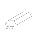 "1/2"" x 1-1/4"" Custom Cherry Miscellaneous Moulding - SPL9340"