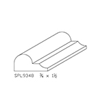"3/4"" x 1-1/2"" Hard Maple Custom Bed Moulding - SPL9348"
