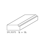 "1/2"" x 1-1/4"" Cherry Custom Door Stop - SPL9375"