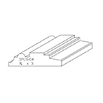 "3/4"" x 3"" Cherry Custom Chair Rail - SPL9414"