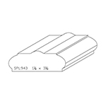 "1-1/8"" x 3-1/8"" Custom Cherry Miscellaneous Moulding - SPL943"