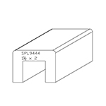 "1-1/2"" x 2"" Custom Cherry Miscellaneous Moulding - SPL9444"