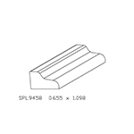 "11/16"" x 1-1/16"" Custom Cherry Miscellaneous Moulding - SPL9458"
