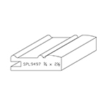 "3/4"" x 2-1/2"" Custom Cherry Miscellaneous Moulding - SPL9497"