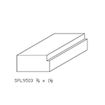 "3/4"" x 1-1/2"" Cherry Custom Door Stop - SPL9503"