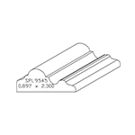 "0.857"" x 2-1/4"" Cherry Custom Chair Rail - SPL9545"