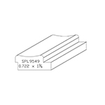 "0.722"" x 1-3/4"" Custom Cherry Miscellaneous Moulding - SPL9549"