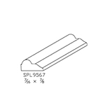 "7/16"" x 7/8"" Cherry Custom Door Moulding - SPL9567"