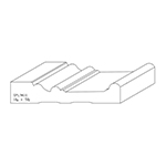 "1-1/16"" x 5-1/2"" Cherry Custom Door Header Moulding - SPL9611"