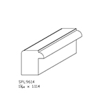 "1.015"" x 1.114"" Cherry Custom Casing Back Band - SPL9614"
