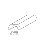 "1/2"" x 1-1/4"" Cherry Custom Miscellaneous Moulding - SPL9621"