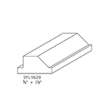 "3/4"" x 1-1/2"" Hard Maple Custom Window Extension Jamb - SPL9628"