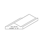 "0.694"" x 2"" Custom Cherry Miscellaneous Moulding - SPL9648"