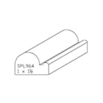 "1"" x 1-1/2"" Custom Cherry Miscellaneous Moulding - SPL964"