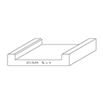 "3/4"" x 4"" F/J Primed Poplar Custom Shoe Rail - SPL9655"