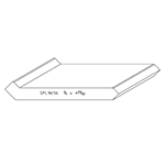 "3/4"" x 4.786"" Cherry Custom Crown Moulding - SPL9656"
