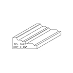 "0.800"" x 1-3/4"" Cherry Custom Chair Rail - SPL9687"