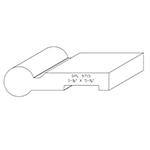 "1-1/2"" x 5-1/4"" Custom Cherry Accessory Moulding - SPL9715"
