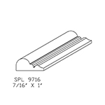 "0.438"" x 1"" Custom Cherry Accessory Moulding - SPL9716"