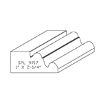 "1"" x 2-1/4"" Custom Cherry Accessory Moulding - SPL9717"