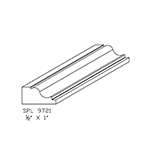 "1/2"" x 1"" Custom Cherry Accessory Moulding - SPL9721"