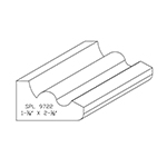 "1-1/4"" x 2-1/8"" Custom Cherry Accessory Moulding - SPL9722"