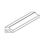 "0.430"" x 0.665"" Custom Cherry Accessory Moulding - SPL9741"