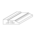 "3/4"" x 2.545"" Custom Cherry Accessory Moulding - SPL9745"